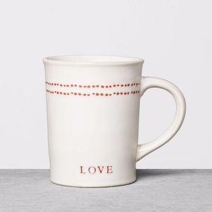 Hearth & Hand stoneware mug red Love farmhouse